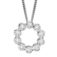 Evergem's diamond simulant pendant