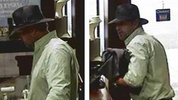 The man was last seen wearing a grey felt hat