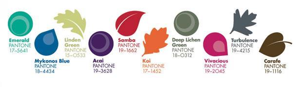 Pantone autumn colour palette 2013