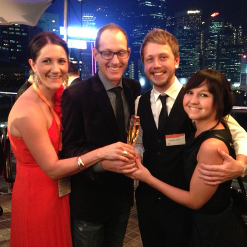 Martin Linning, Martyn Brown and partners at award ceremony in Hong Kong