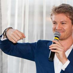 Nico Rosberg addressing the event's audience