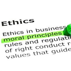 Ethics are often associated with morals