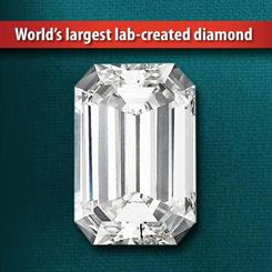 Gemesis has released the world's largest, cleanest lab-created diamond