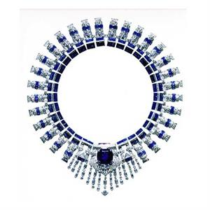 Cartier diamond and sapphire necklace, 1936