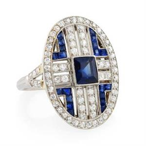 Tiffany & Co sapphire and diamond ring, 1925