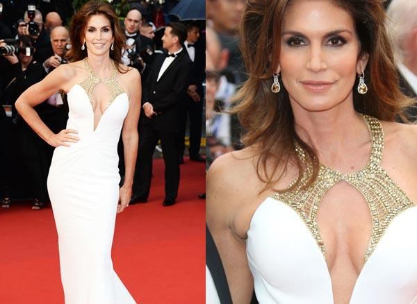 Cindy Crawford at Cannes 2013 wearing Chopard jewellery