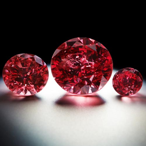 The pinnacles of the tender, rare red diamonds from Argyle's reserve