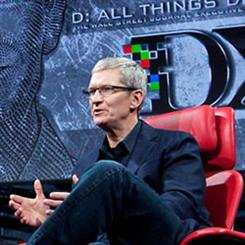 Apple CEO Tim Cook speaking at D: All Things Digital conference