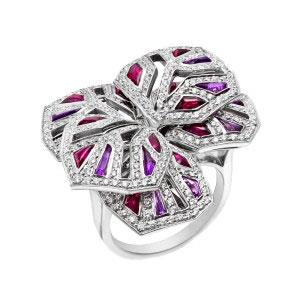 "Cartier ?Diamond, Ruby & Amethyst ""Orchid"", circa 2005"
