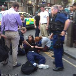 Two suspects were arrested after falling off a motorcycle. Image source: Daily Mail