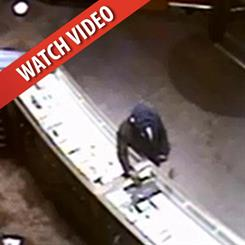 The suspect waited for the clerk to turn their back before grabbing the two necklaces