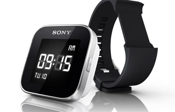 The wearer can change straps on their Sony SmartWatch