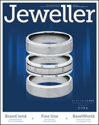 Dora¹s Platinum 600 rings were unveiled on Jeweller¹s July front cover