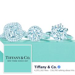 Tiffany's high-quality and image-driven posts are said to encourage consumer engagement