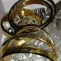A sample of the fake jewellery reportedly used in the syndicate. Image source: news.com.au