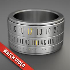 The stainless steel ring uses 24-hour time