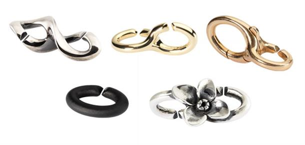 X by Trollbeads features organic shapes to accentuate the links