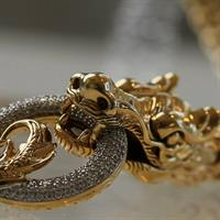 Inspired by Indonesian art, John Hardy creates this dragon-shaped necklace