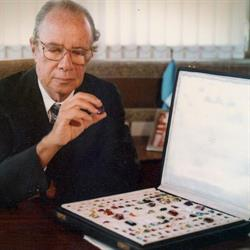 Hans Stern shows his precious stone collection from Brazil