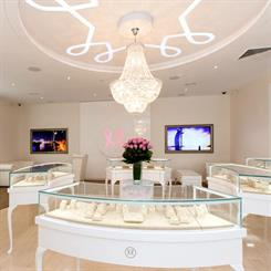 Monili Jewellers' storefront has been designed to reflect its luxury branding