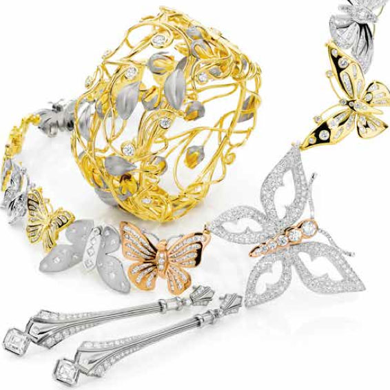 Jewellery pieces selected as finalists in the Red Carpet category
