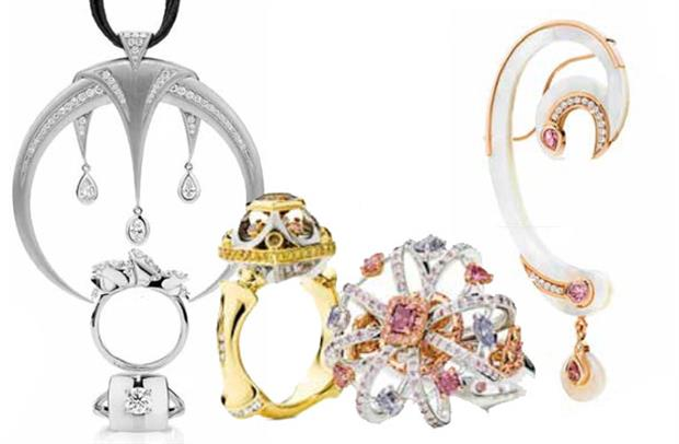 Jewellery pieces selected as finalists in the Daily Diamonds and Fancy Colour categories