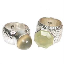 Renee Blackwell Design's pounded sterling silver rings