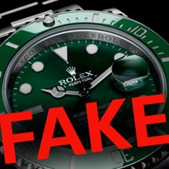Counterfeit watches being openly sold