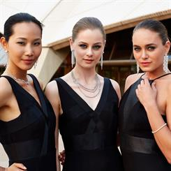 Models showcase the Forevermark range at Sydney Opera House