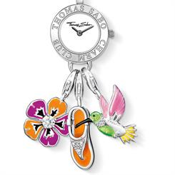 Silver watch charm carrier from Thomas Sabo