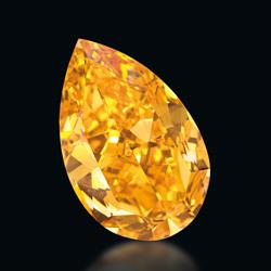The Orange set an international auction record for the highest price paid for a fancy vivid orange diamond