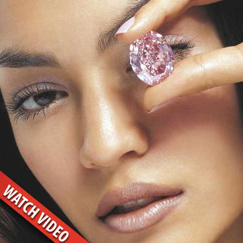 The stone was the largest flawless fancy pink diamond that the GIA had ever graded