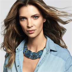 Many jewellery pieces feature Swarovski's signature crystals in blue tones