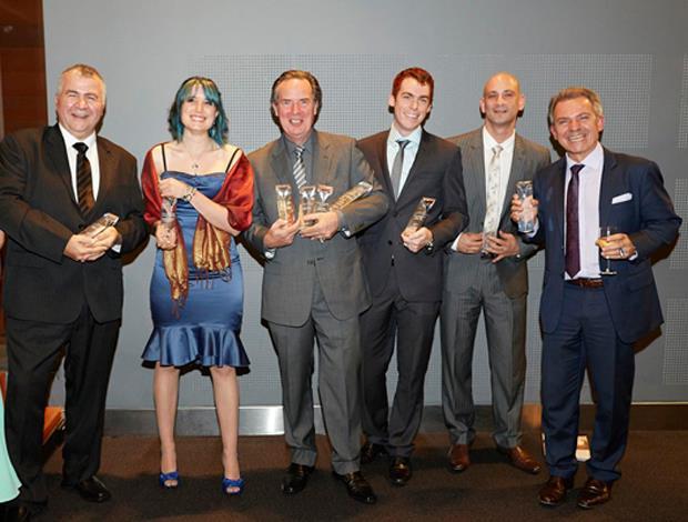 2013 award winners (L to R): James Ballas, Kirra-Lea Caynes, Robert Musson, Matthew Ely, Steve Der Bedrossian, Varoujan Djevahirdjian. Source: Georgina Egan, DGA
