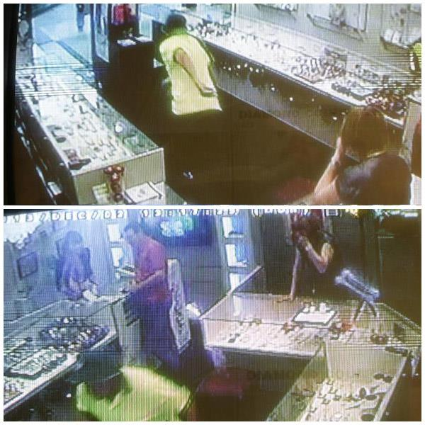CCTV footage with Watts running away with the two rings in front of Liljana McDonald