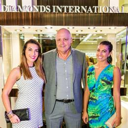 Charles Bentley, CEO of Diamonds International, with guests