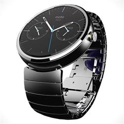 The Moto 360 will feature smartwatch interface screens, while still having the appearance of an analogue watch