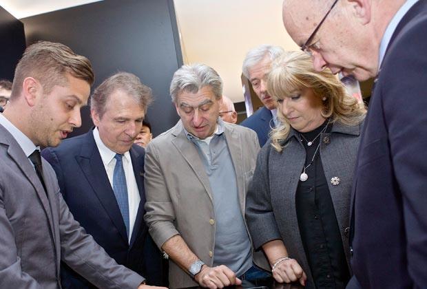 Francois Thiébaud, Nick Hayek, Nayla Hayek, Ueli Maurer