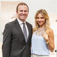 Duraflex Group Australia managing director Phil Edwards with Nikki Osborne