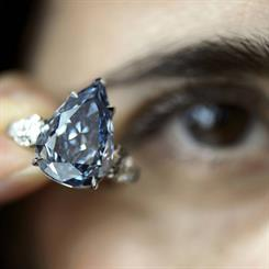 The Winston Blue set a new world auction record price per carat for a blue diamond