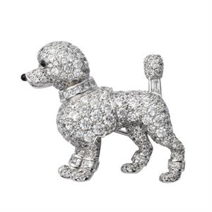 Cartier replica of 270 diamond encrusted poodle brooch from 1958