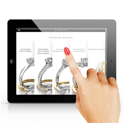 The Showcase Jewellers app focuses on diamond jewellery