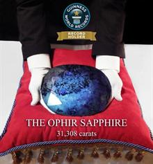 "The Ophir Sapphire is ""roughly the size of a dinner plate"""