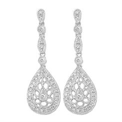 Protea Diamonds' drop earrings