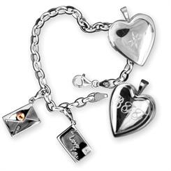 'Love Letter' charms and lockets
