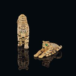 The Cartier Tiger collection is expected to fetch up to $2.8 million