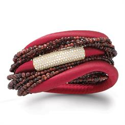 Story Jewellery's red silk bracelet