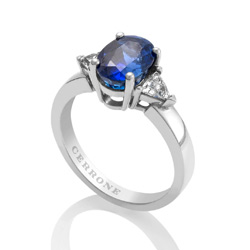 A sapphire ring from Cerrone