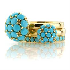 Mark Milton's new turquoise stacking rings