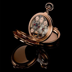 Girard-Perregaux's Three Bridge pocket watch that will be on display at the events